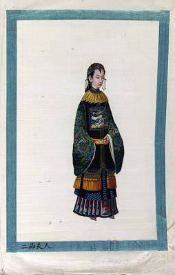 Mandarin Photograph - Portrait Of The Wife Of 2 Rank Mandarin by British Library