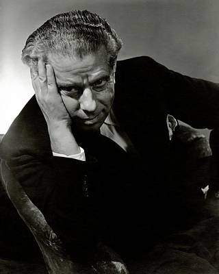 Boredom Photograph - Portrait Of Theater Director Max Reinhardt by Lusha Nelson