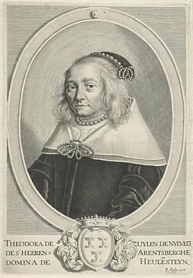 Stein Drawing - Portrait Of Theodora Van Zuylen Van Nijevelt by Reinier Van Persijn