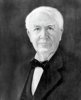 Vintage Camera Painting - Portrait Of Thomas A. Edison As Senior by Vintage Images
