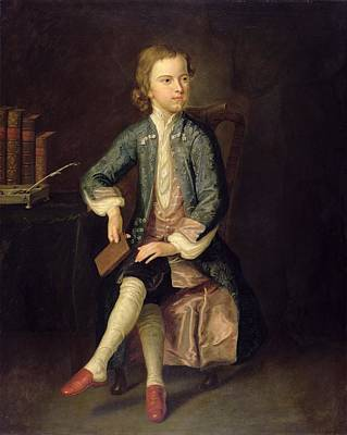 Teenager Painting - Portrait Of Thomas Gray C.1731 by Arthur Pond