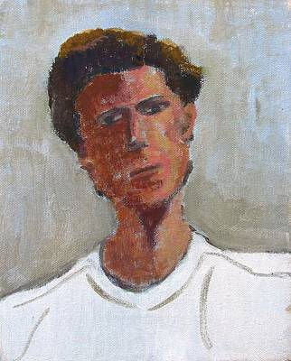 Art Print featuring the painting Portrait Of Troy by Anita Dale Livaditis