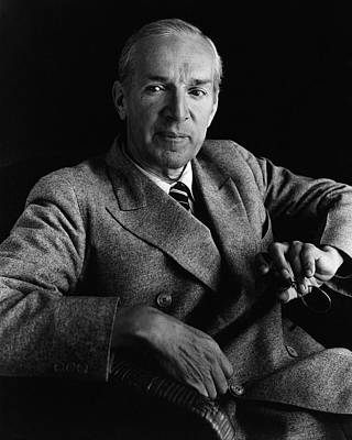 Upton Photograph - Portrait Of Upton Sinclair by Imogen Cunningham