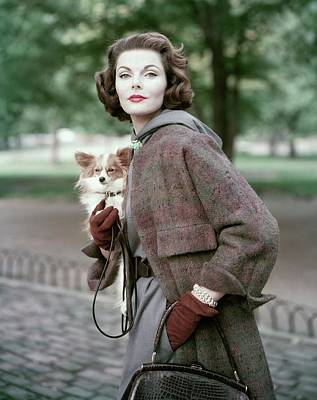 Dog Jewelry Photograph - Portrait Of Va Taylor Carrying A Dog by Frances Mclaughlin-Gill