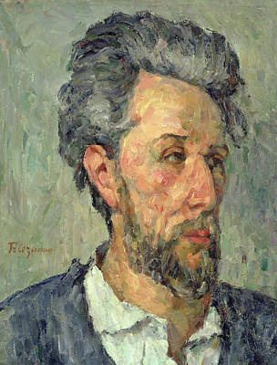 Post-impressionist Photograph - Portrait Of Victor Chocquet, 1876-77 Oil On Canvas by Paul Cezanne