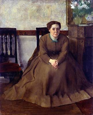 Ohio Painting - Portrait Of Victoria Dubourg by Edgar Degas