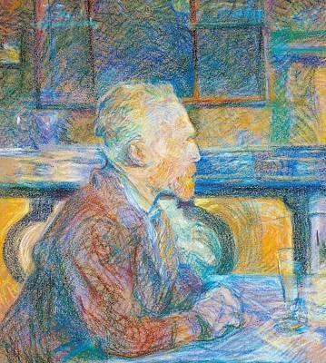 Henri De Toulouse Lautrec Painting - Portrait Of Vincent Van Gogh by Henri de Toulouse Lautrec