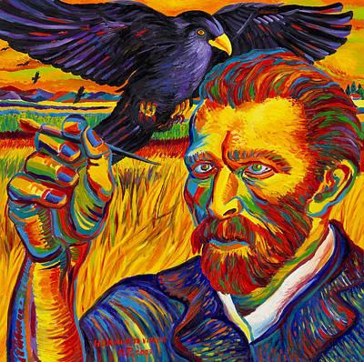 Moshe Painting - Portrait  Of  Vincent  Van  Gogh by Moshe Rosental