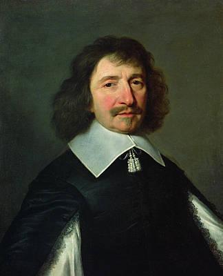 Portrait Of Vincent Voiture 1597-1648 C.1643-44 Oil On Canvas Print by Philippe de Champaigne