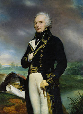Commander In Chief Photograph - Portrait Of Viscount Alexandre-francois-marie De Beauharnais 1760-94 After A Painting By J. Guerin by Georges Rouget