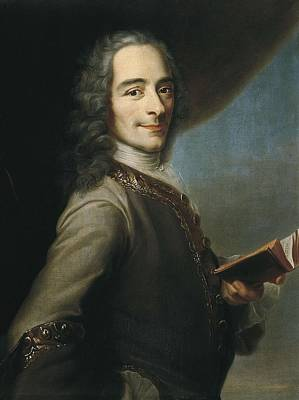 Inner Thoughts Photograph - Portrait Of Voltaire. Ca. 1736 by Everett