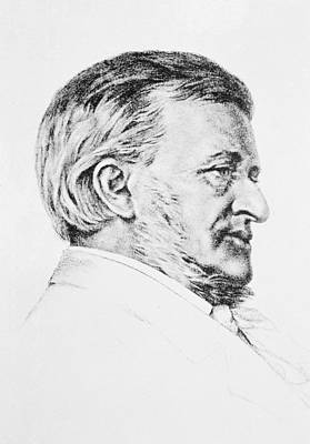 Wagner Drawing - Portrait Of Wagner by Anonymous