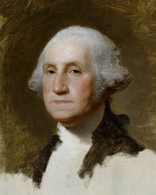 Politicians Royalty-Free and Rights-Managed Images - Portrait of Washington  by Gilbert Stuart