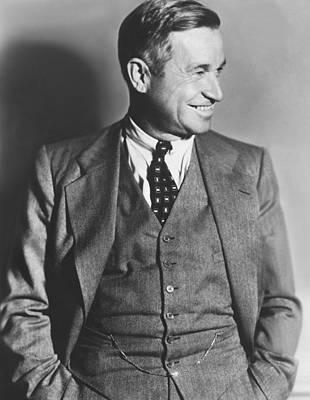 Portrait Of Will Rogers Art Print by Underwood Archives