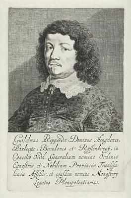 Portrait Of Willem Van Ripperdapark, Pieter Nolpe Art Print by Pieter Nolpe