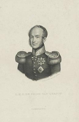 Portrait Of William II, King Of The Netherlands Art Print by Jan Baptist Tetar Van Elven