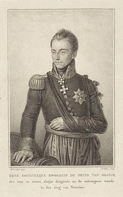 Sling Drawing - Portrait Of William II, King Of The Netherlands by Philippus Velijn