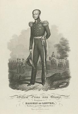 Portrait Of William II, King Of The Netherlands Art Print by Willem Hendrik Hoogkamer And Hendrik Klouzing (ii) And J. Guykens