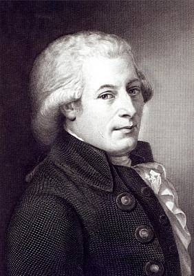 Portrait Of Wolfgang Amadeus Mozart Art Print