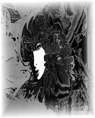 Portrait Digital Art - Portrait Of Woman In Black by Doris Wood