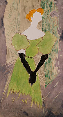 Redheads Wall Art - Painting - Portrait Of Yvette Guilbert by Henri de Toulouse-Lautrec