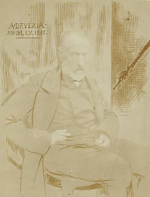 Self-portrait Drawing - Portrait Or Self-portrait Of Achille Devéria Achille by Litz Collection