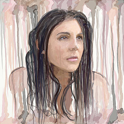Colorful Mixed Media - Portrait Painting - Natalie by Robert Wheater