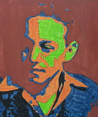 Mixed Media - Portrait Plan Of Tennessee Williams  by Anna Ruzsan