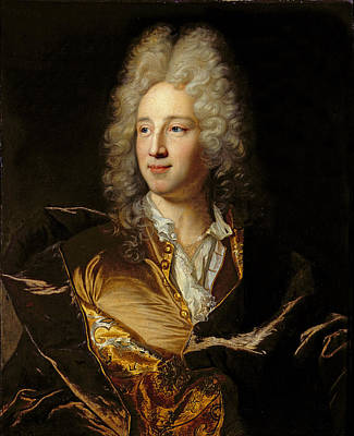 Alexandre Photograph - Portrait Presumed To Be Louis-alexandre De Bourbon 1678-1737 Duc De Damville Oil On Canvas by Hyacinthe Rigaud