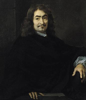 Theorist Painting - Portrait Presumed To Be Rene Descartes by Sebastien Bourdon