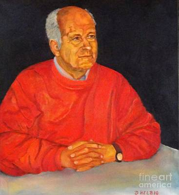 Painting - Portrait  Special Observer by Dagmar Helbig