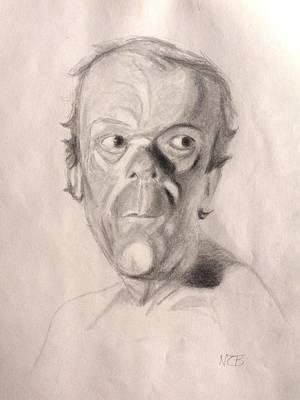 Painting - Portrait Study 3 by Nicolas Bouteneff
