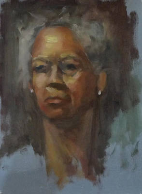 Painting - Portrait Study From Ginsburg Workshop by Carol Berning