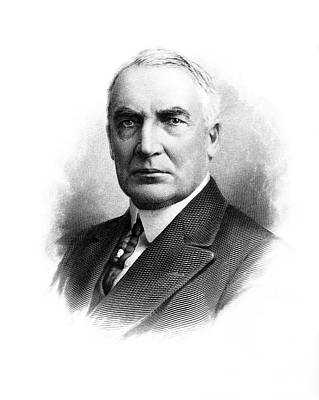 Portrait Warren G. Harding 1865-1923 Art Print