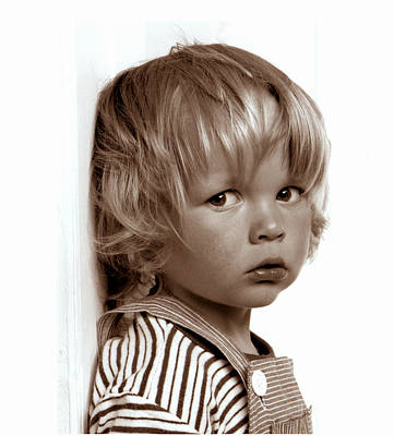 Portrait Young Boy   Art Print by Viggo Mortensen