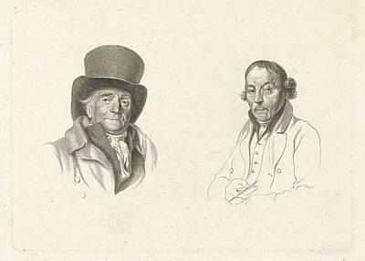 Portraits Of John Peter Of Horstok And Warner Horstink Art Print by Artokoloro