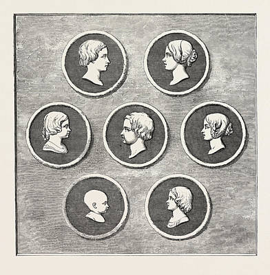 Portrait Old Age Drawing - Portraits Of The Royal Children, Modelled By Command by Welsh School