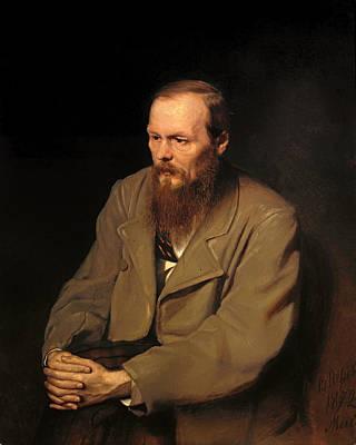 Novelist Painting - Portrat Of Fedor Dostoyevski by Mountain Dreams