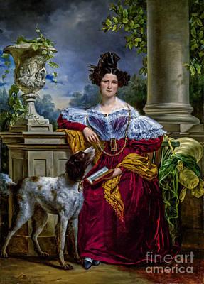 Pop Art - Portret van Alida Christina Assink 1833 by Viktor Birkus