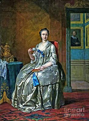 Portraits Painting - Portret Van Machteld Muilman by Viktor Birkus
