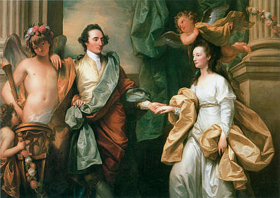 Husband And Wife Painting - Portriat Of Mr And Mrs John Custance by Benjamin West