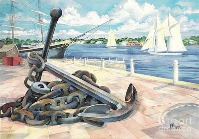 Portside Anchor Art Print by Paul Brent