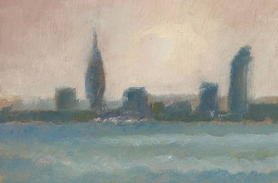 Painting - Portsmouth Dawn Part Four by Alan Daysh