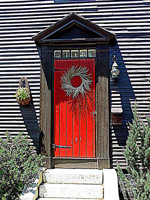 Portsmouth Door 2 Print by Kevin Fortier