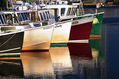 Portsmouth Fishing Fleet Art Print by Eric Gendron