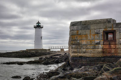 Portsmouth Harbor Light Print by Eric Gendron