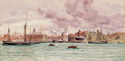 Portsmouth Harbor Art Print by John Brett
