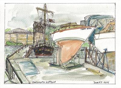 Painting - Portsmouth Harbour by David Dossett
