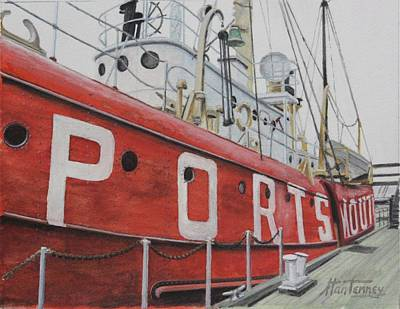 Painting - Portsmouth Lightship by Stan Tenney