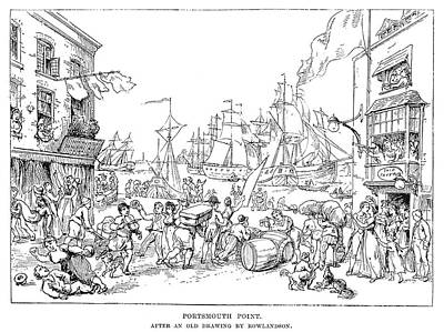 Caricature Drawing - Portsmouth Point, C1814 by Granger